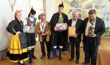 Recepción en el Ayuntamiento de Lorient a las delegaciones de los países celtas