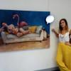 María Peña presenta una de les nueves miraes de la plástica asturiana en Lorient