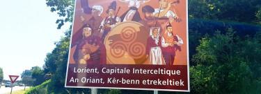 Lorient Capital Intercéltica capital apaez na entrada de la ciudá